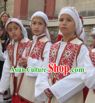 Girl Greek Dance Costumes Complete Set