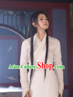 Chinese White Traditional Clothing for Ladies
