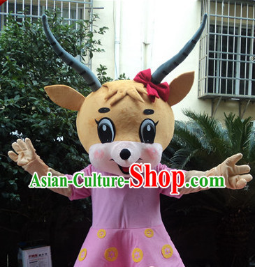 Chinese New Year Laughing Sheep Mascot Costumes Complete Set