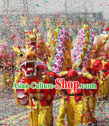 Chinese New Year Dragon Parade Costume Complete Set for Eight Children