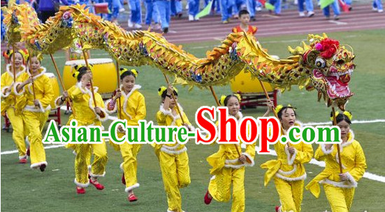 18 Meters 10 People Olympic Games Dragon Dance Equipments Complete Set for Teenagers