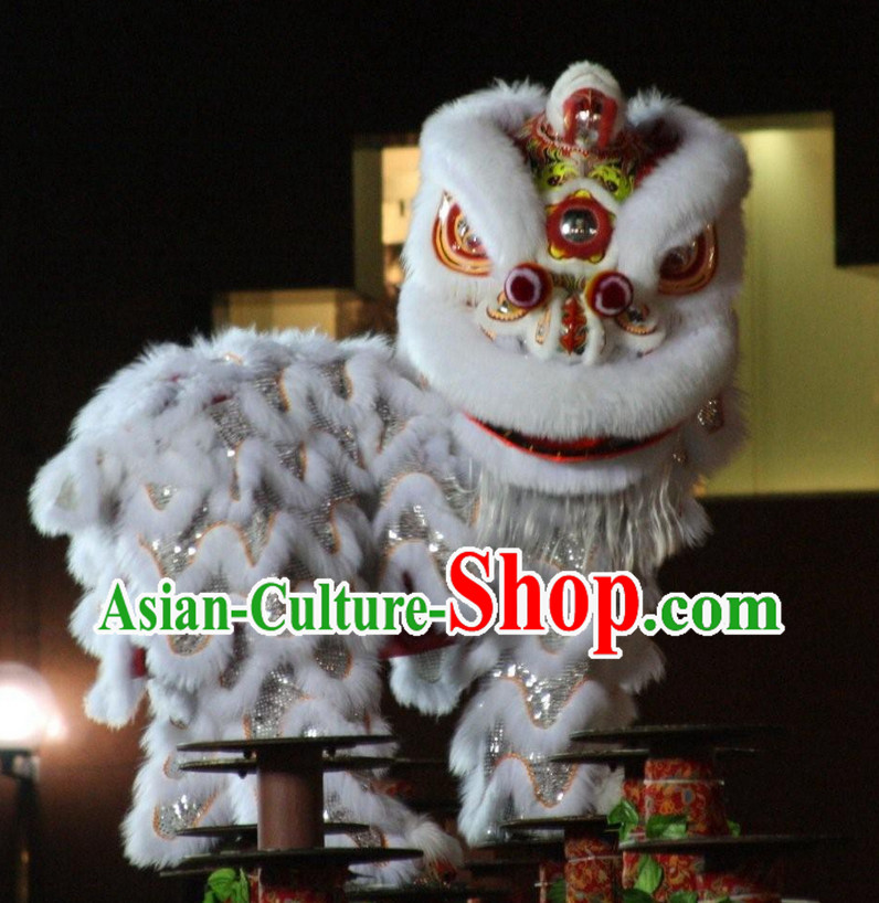 Top White Southern Foshan Lion Dance Equipments Complete Set