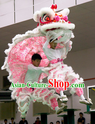 Top Pink Southern Lion Dance Equipment Complete Set