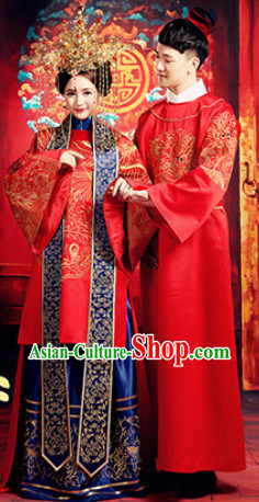 Chinese Wedding Couples Costumes for Men and Women