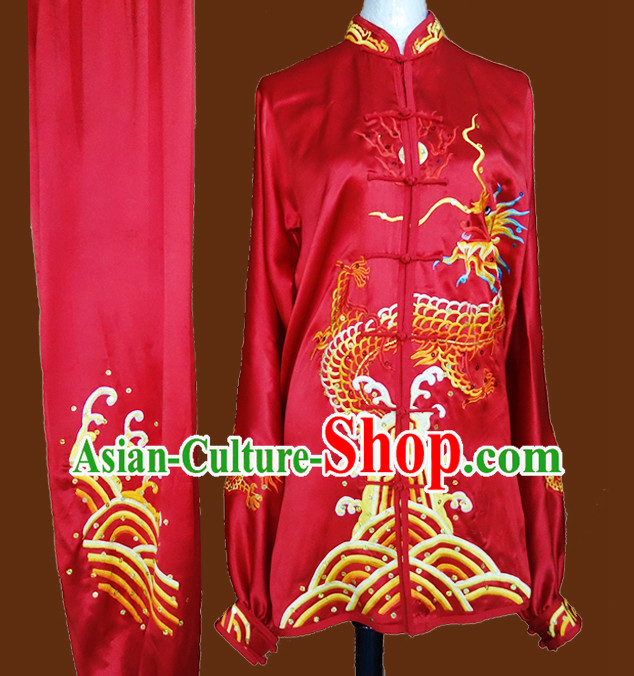 Professional Kung Fu Competition Dragon Embroidery Outfit