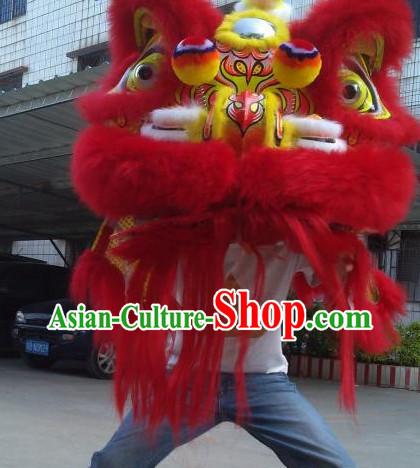 Chinese Festival Celebration Red Lion Equipments Complete Set