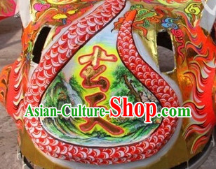 Original Painting Chinese Lion Costumes