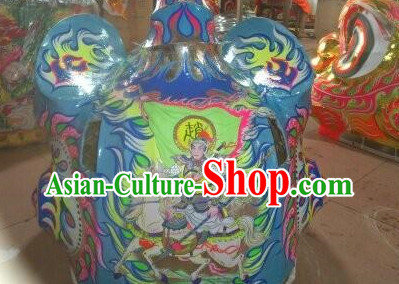 Original Painting Chinese Lion Costume