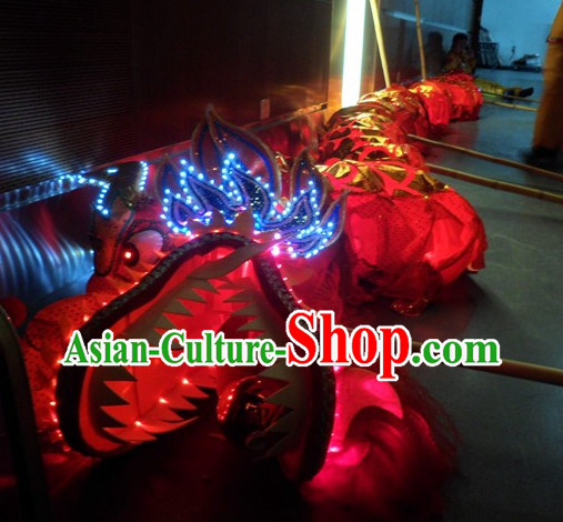 LED Lights Chinese New Year Northern Dragon Equipment Complete Set for Children