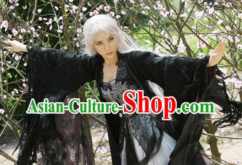 Chinese Classic Long White Wig