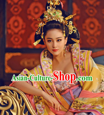 Ancient Asian Arts Traditional Chinese Empress Hair Jewelry Earrings