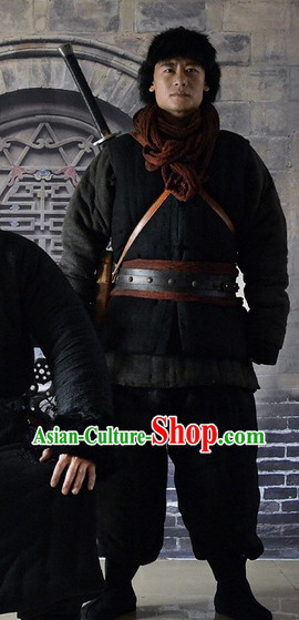 China Dongbei Province Guerrillas Black Blouse and Pants for Men