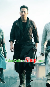 Ancient Chinese Swordman Dress Complete Set for Men