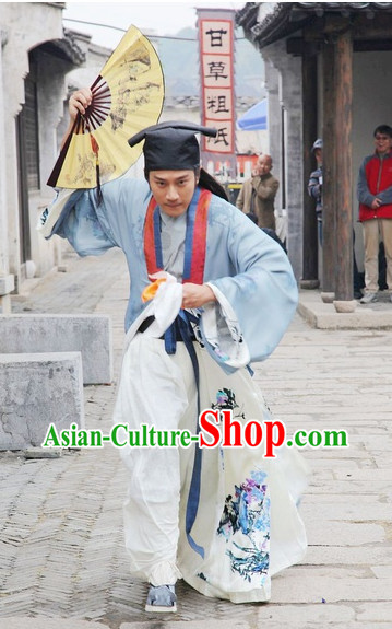 Ancient Chinese Student Outfit for Boys