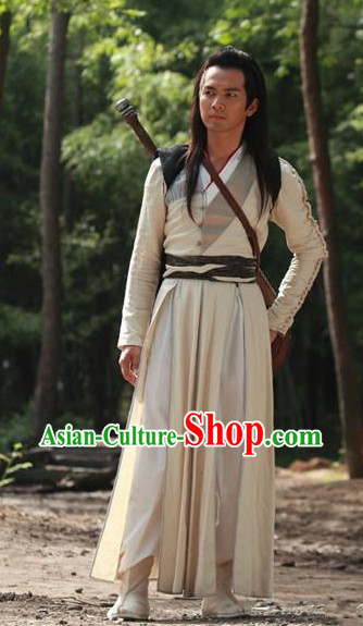 White Knight Hanfu Clothes for Men