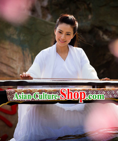 Pure White Fairy Kung Fu Master Costumes Complete Set for Women