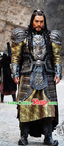Ancient Chinese Ethnic Minority Emperor Armor Costumes Complete Set