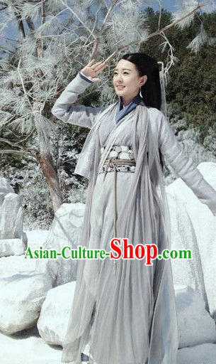 Traditional Chinese Grey Hanfu Dresses for Women