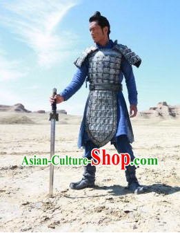 Chinese Ancient Terra Cotta Armor Costumes Complete Set for Men