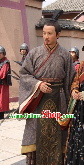 Chinese Classic Male Oriental Clothing Complete Set