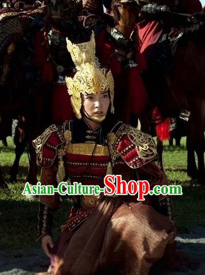 China Female General Gold Hat Helmet