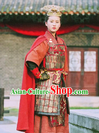 Ancient Chinese Female Superhero Armor Costumes from Movies