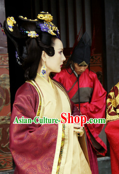 Chinese Tang Empress  Wig and Hair Accessory