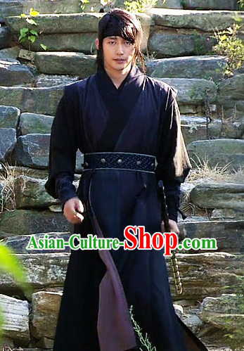 Black South Korean Male Warrior Costumes