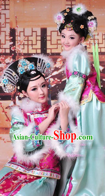 Ancient Chinese Manchu Princess Dress for Little Girls