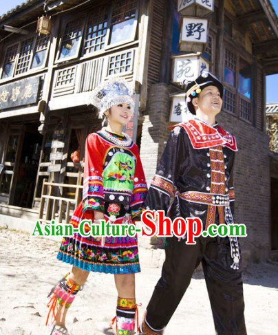 Chinese Miao Clothes for Men and Women