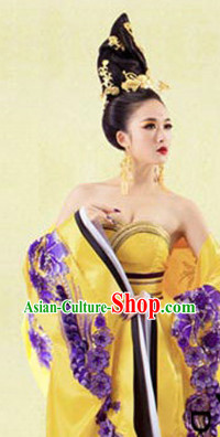 Chinese Tang Dynasty Empress China Costumes and Headgear Complete Set