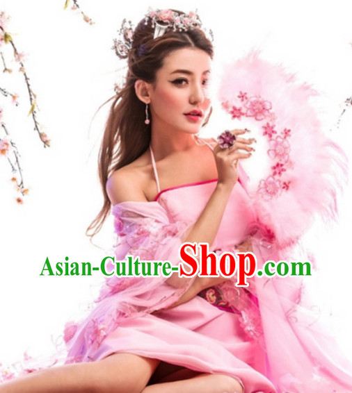 Asia Fashion Classical Sexy Dresses and Head Wear for Women