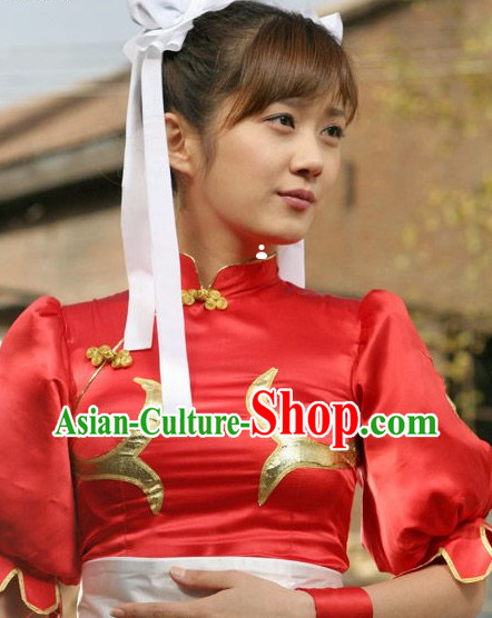 China Girl Cosplay Outfit and Headwear Complete Set for Women