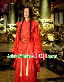 Asian Red Wedding Outfit Dresses for Bridal Men