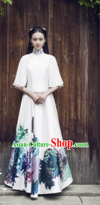 China Minguo Time Lady Mandarin Dresses Complete Set for Women