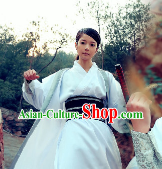 Asian Swordman White Costumes