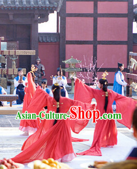 Lucky Red Asian Classical Dancing Costumes for Women