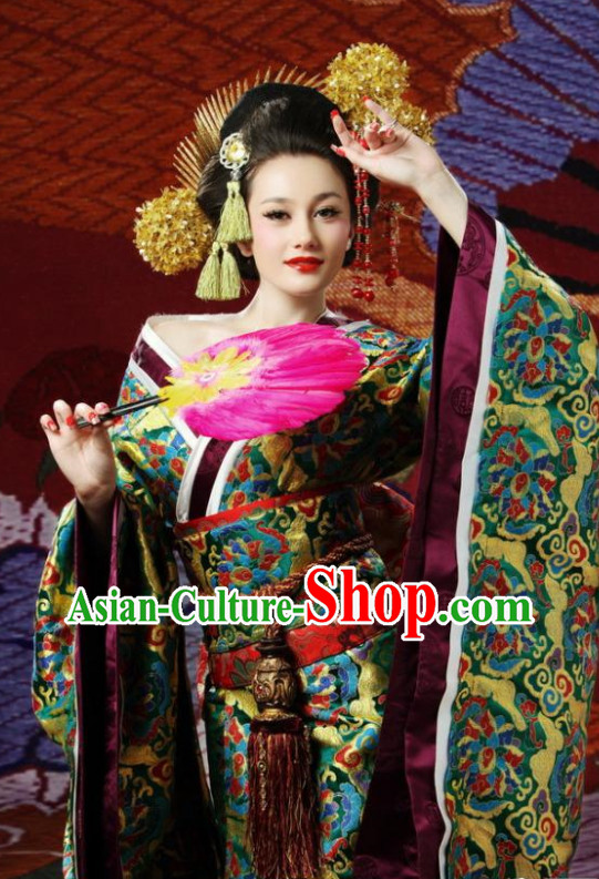 Japanese Geisha Costume and Hair Accessories