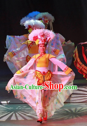China Yunnan Lijiang Stage Costumes and Feather Hat