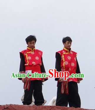 Tibetan Men's Clothing Long Robe Dresses