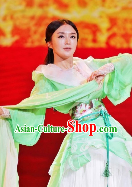 Xi Shi China Beauty Traditional Chinese Green Costumes