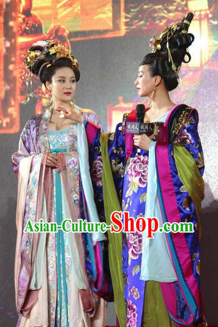 Chinese TV Play Empress Costumes and Hair Accessories Complete Set