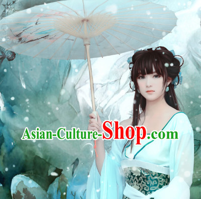 Asian China Fan Dancing Costumes and Accessories