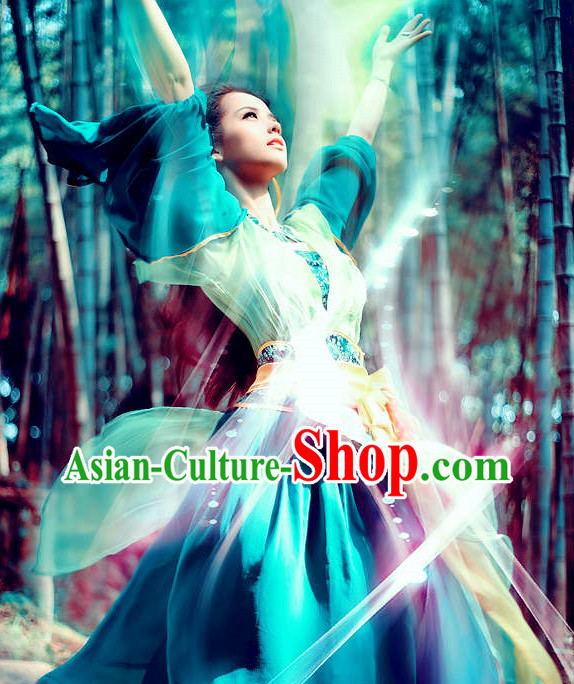 Chinese Fairy Wide Sleeves Dance Costume