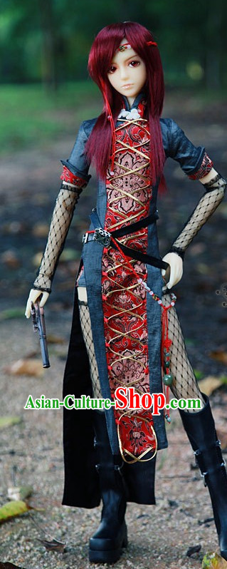 Chinese Halloween Costumes for Kung Fu Girls.