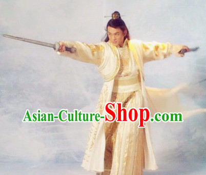 Chinese Ancient Prince Swordsman Dresses Complete Set for Men