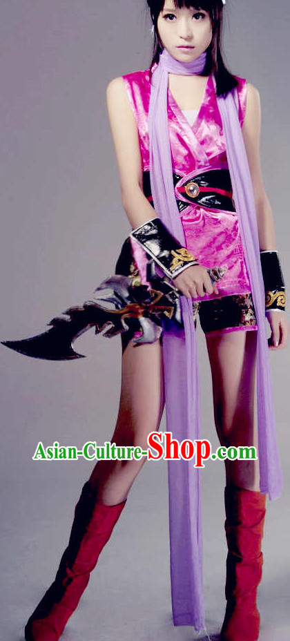 Pink Sexy Halloween Cosplay Costumes and Headwear for Women