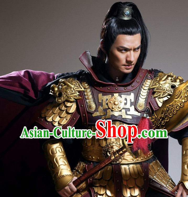 Ancient Traditional Emperor Armor Suit Complete Set for Men