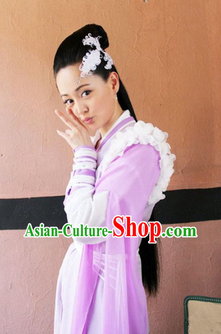 China Huang Rong Superheroine Swordswomen Costumes
