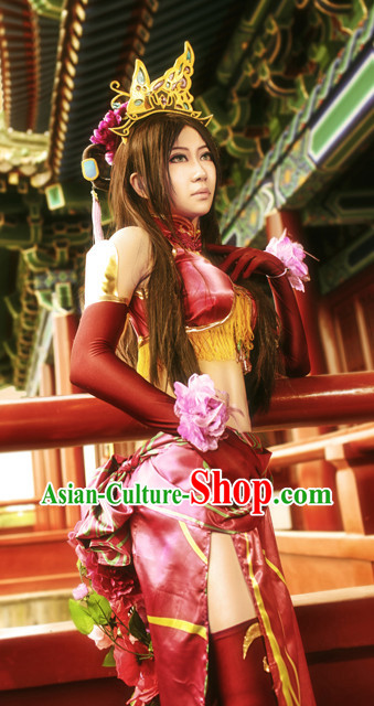 Asian Sexy Japanese Superheroine Anime Costumes